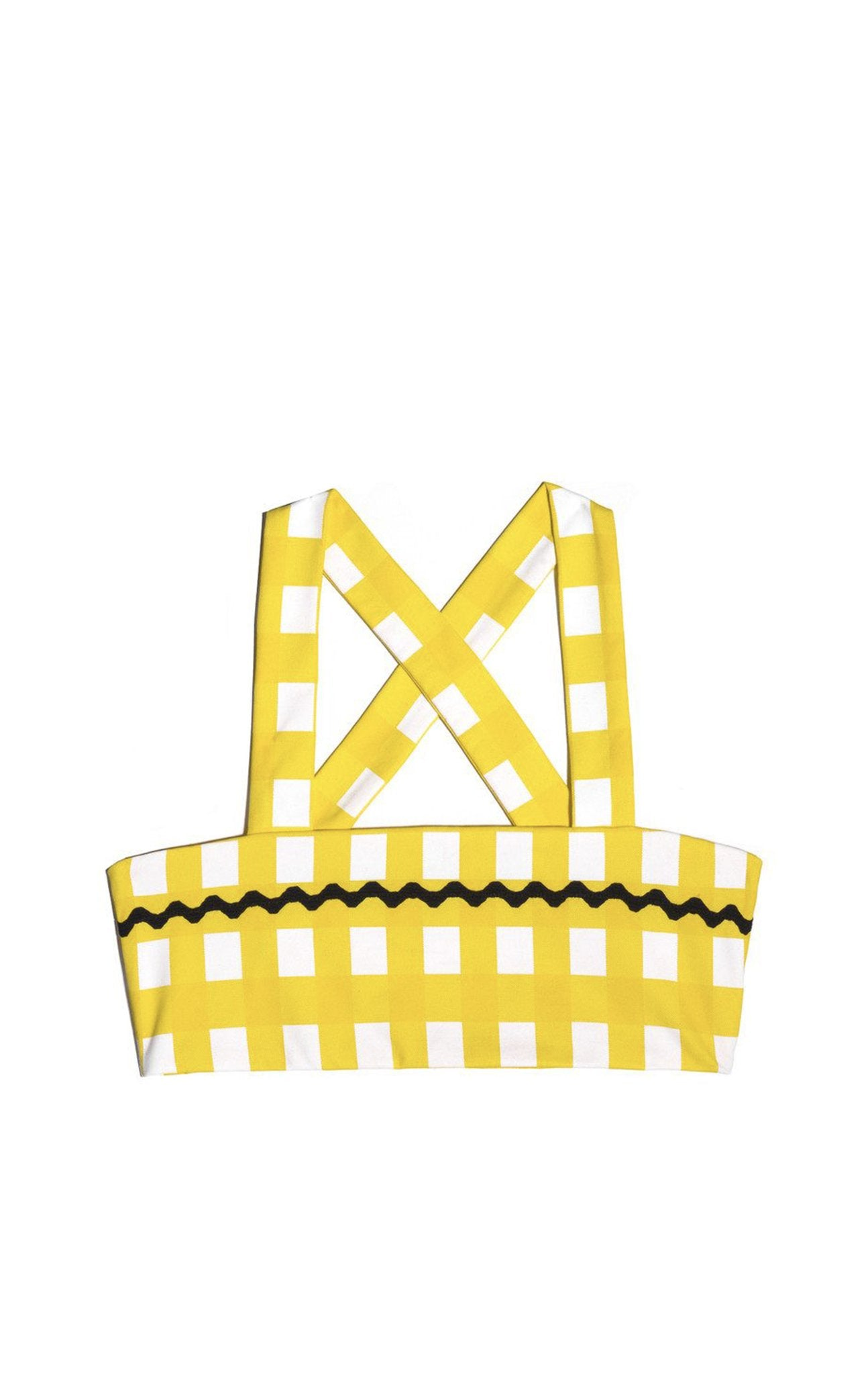 Bumby Honolulu Top in Canary Yellow Gingham