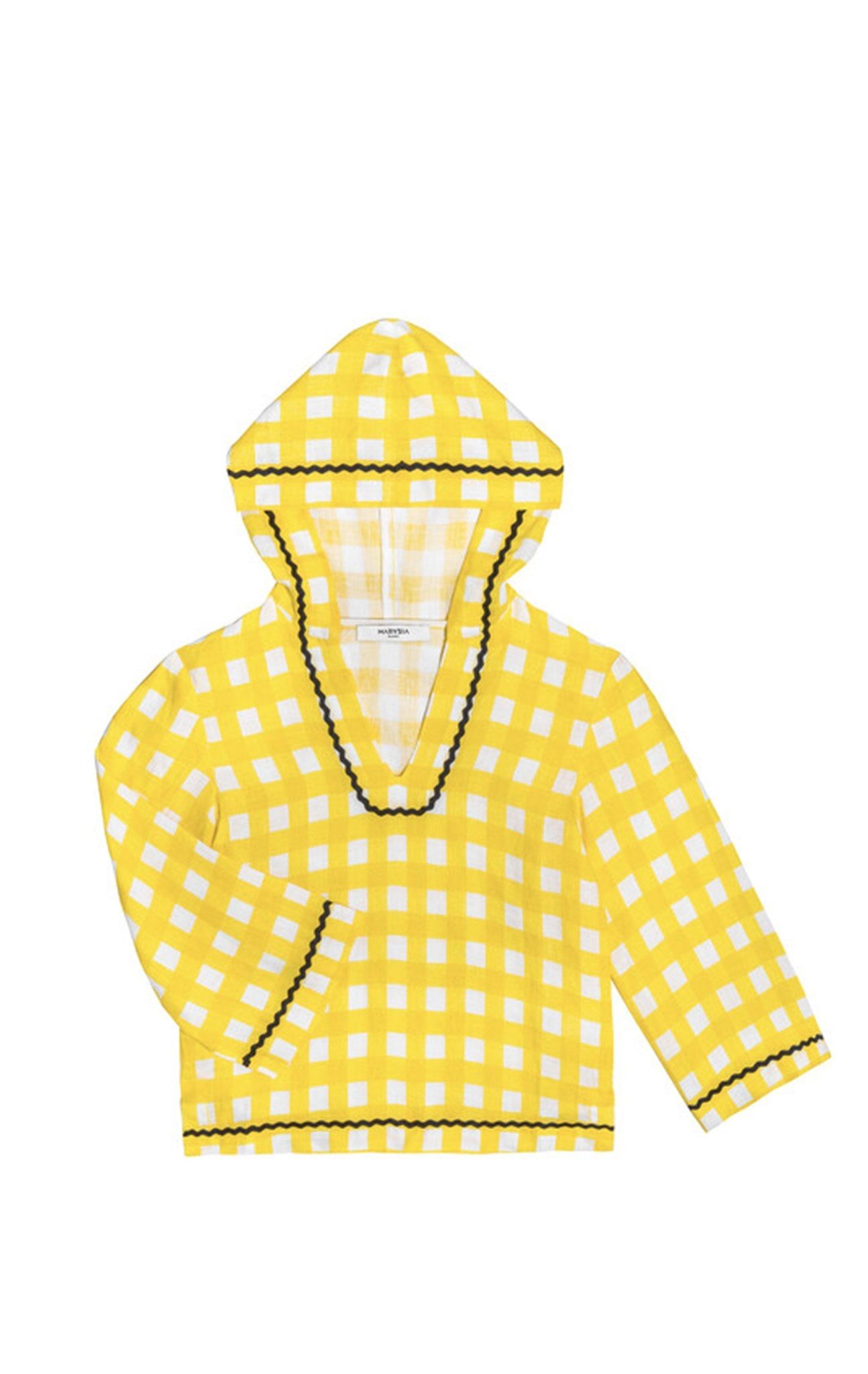 Bumby Hooded Tunic in Canary Yellow Gingham