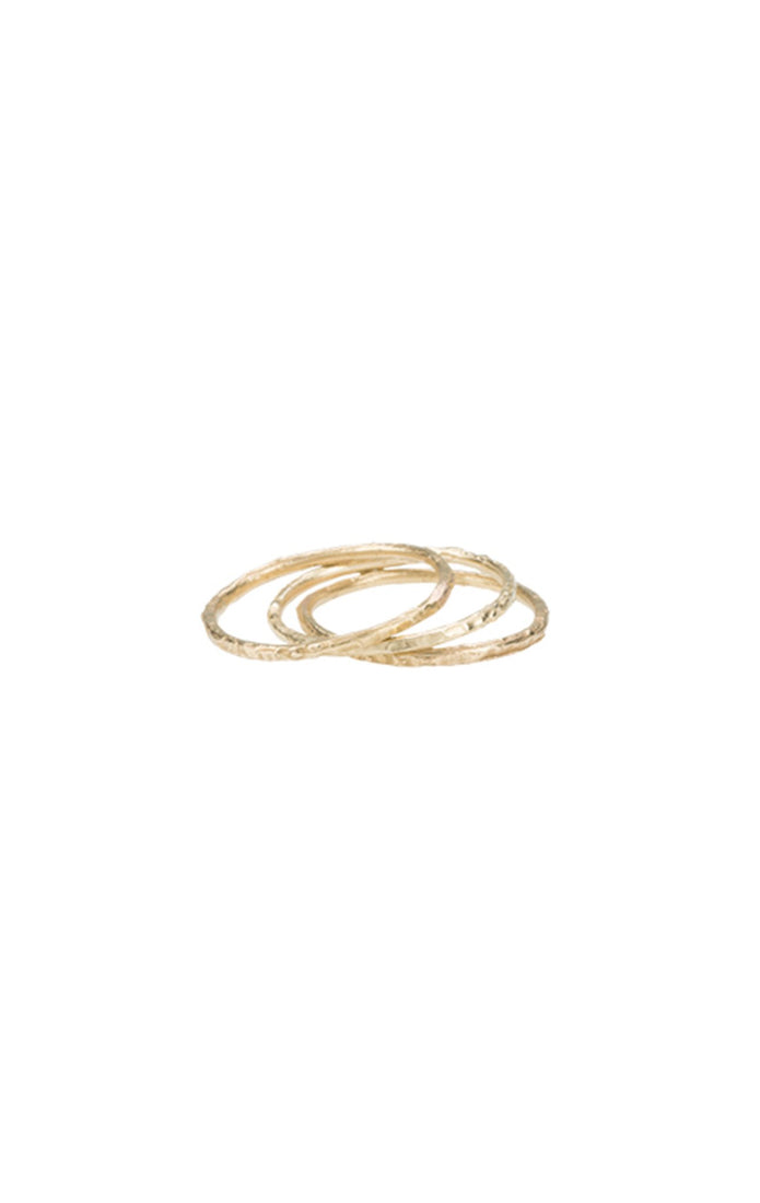 Twig Ring in Yellow Gold