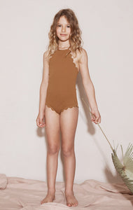 Bumby Mott Maillot in Earth/Dark Earth (Reversible)