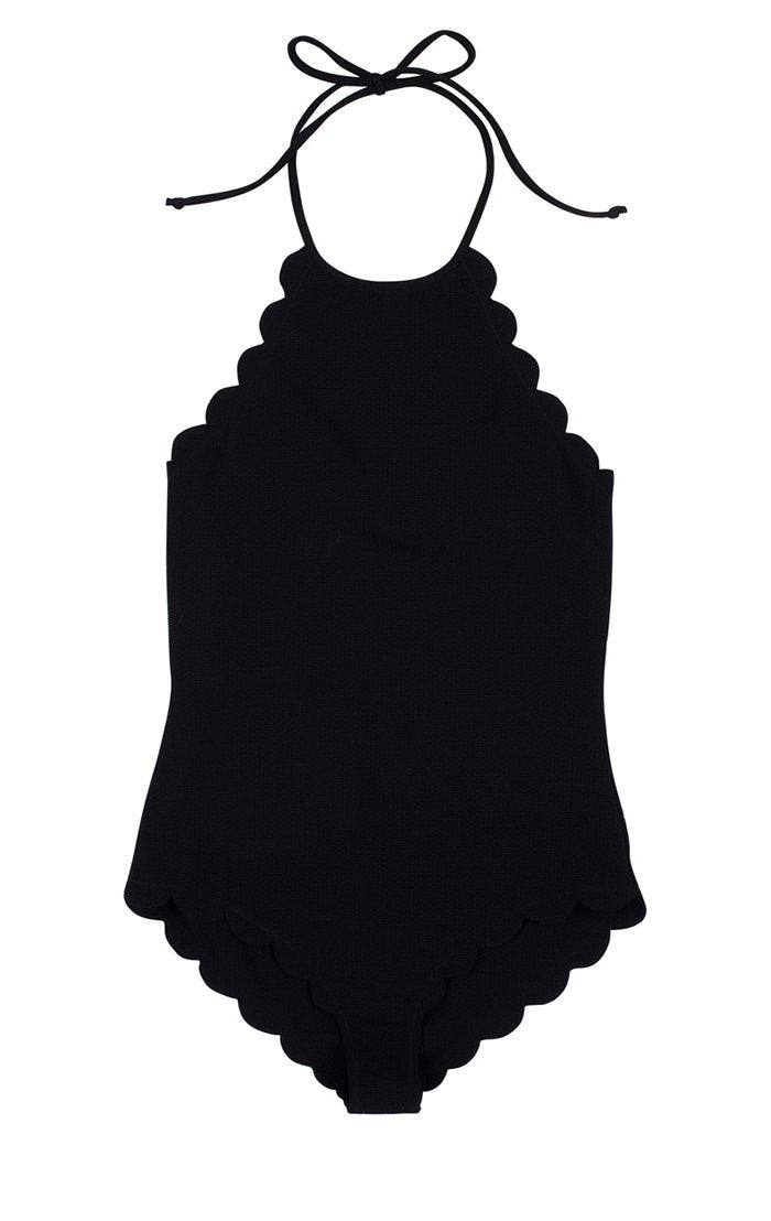 Long Torso Mott Maillot in Black