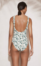 Palm Springs Tie Maillot in Sea Urchin Green Print
