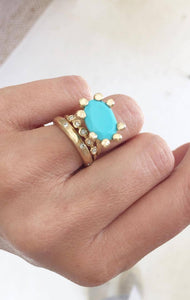 Turquoise XL Prong Ring