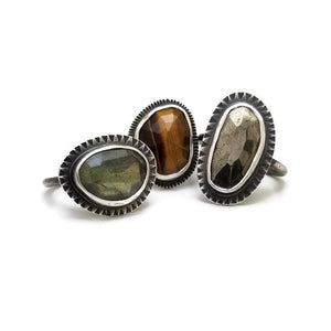 Labradorite ring - one of a kind