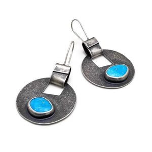 Turquoise cutout earrings