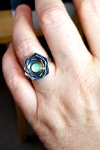Peruvian Opal Flower Ring