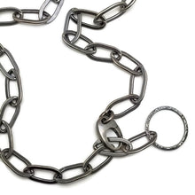 Simple sterling oval link chain 20""