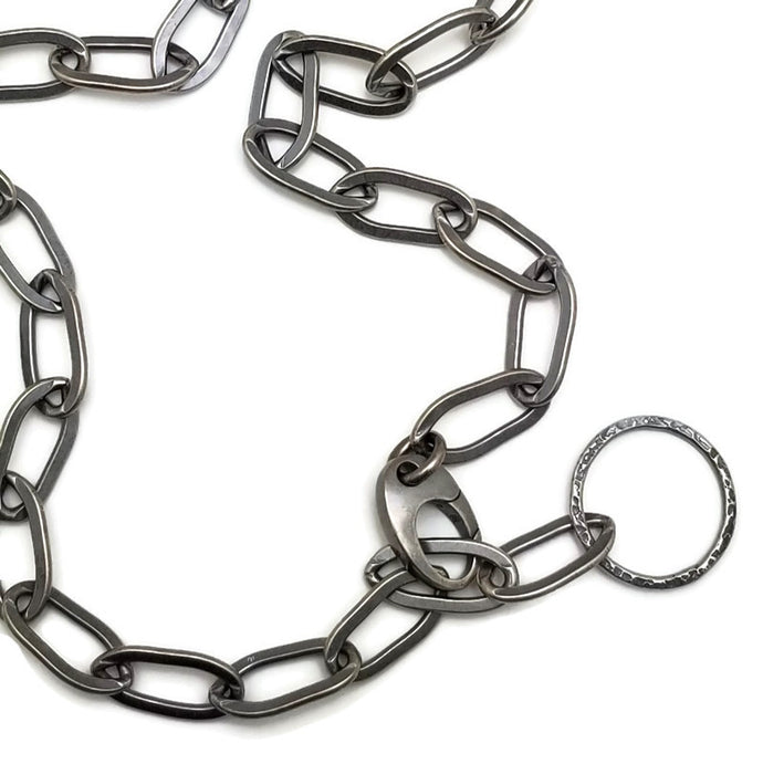 Simple sterling oval link chain 20