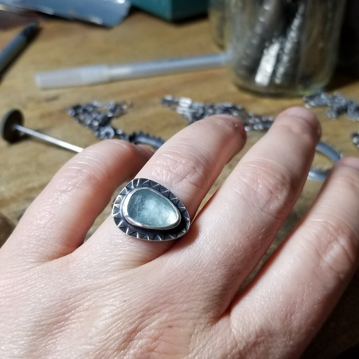 Aquamarine Ring - size 8