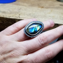 Labradorite Cocktail Ring #3 - 6.5-7