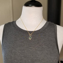 Gem Silica Pear Necklace with Gold and Silver