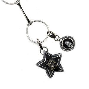 Rock Star!!! Pyrite in schiste star charm - one of a kind