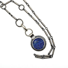 One of a kind rough top lapis charm