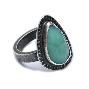 Chrysoprase ring - size 6