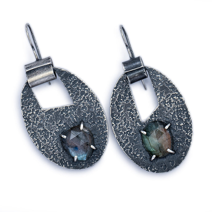 Labradorite Cutout Earrings