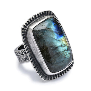 Labradorite Cocktail Ring #1 - size 7.5