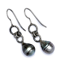 Gray Tahitian Pearl Earrings
