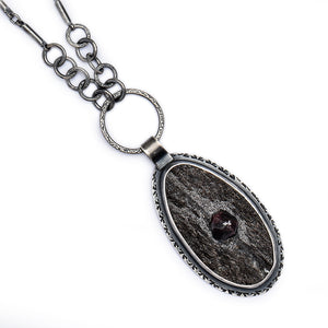 Garnet in Schiste Necklace