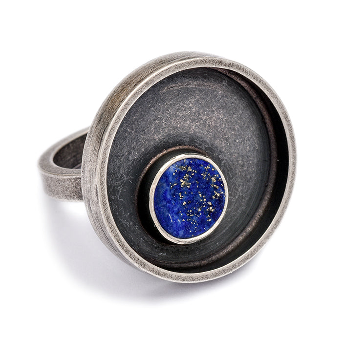 Lapis Ring in sterling silver size 7