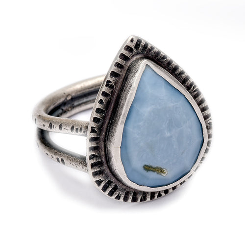 Blue Opal Ring - size 8