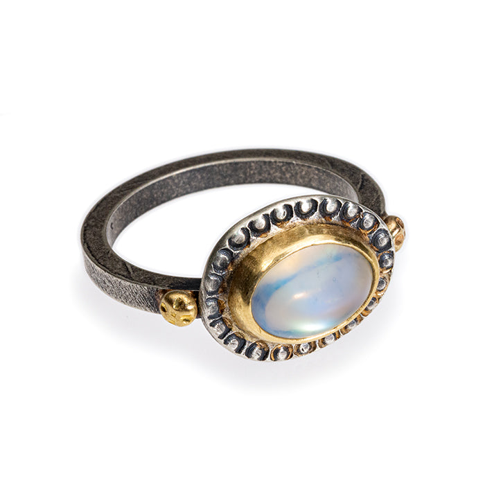 Moonstone Ring in 14k, 18k gold and sterling silver