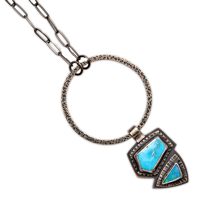 Turquoise & Opal Statement Necklace