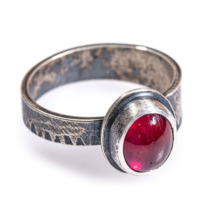 Ruby Ring in sterling silver -size 9