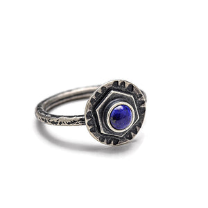Dainty lapis ring - size 7 1/4