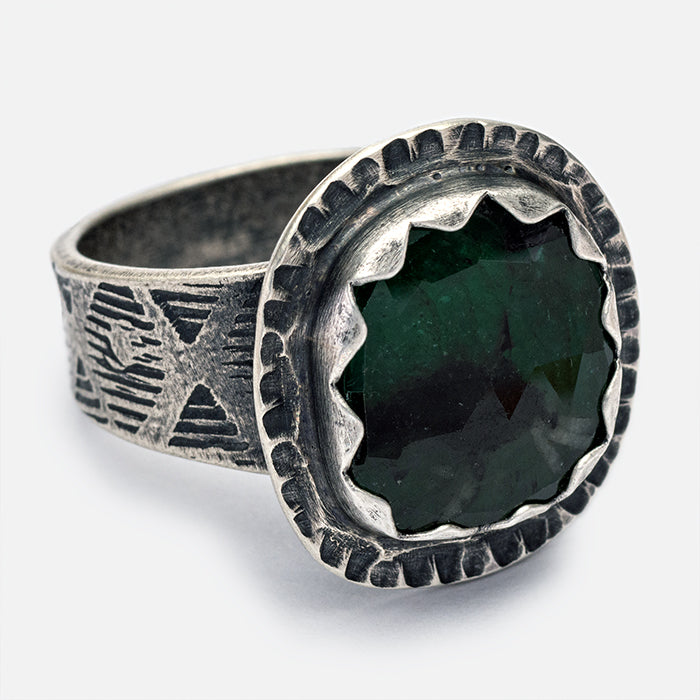 Emerald Ring - size 8.5