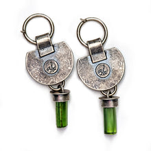 Green tourmaline earrings - one of a kind
