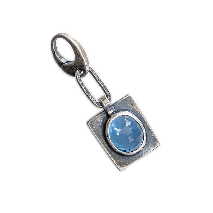 London Blue Topaz Charm in sterling silver