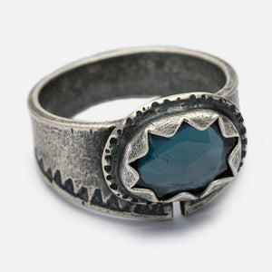 London Blue Topaz Ring - size 7.5