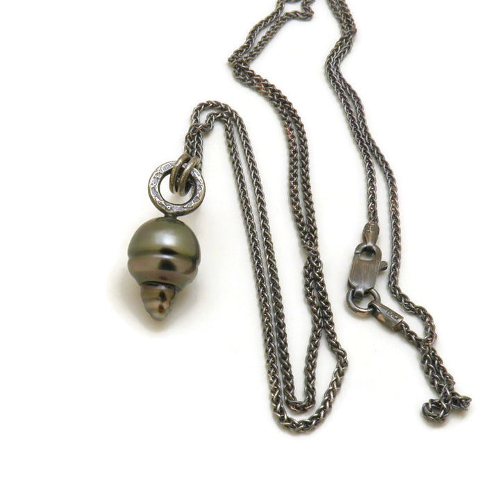 Black Tahitian Pearl necklace - one of a kind