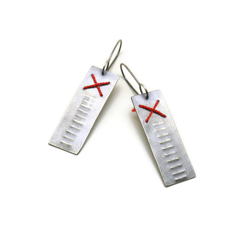 Primitive Stitched Earrings - X