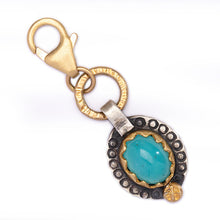 Peruvian Opal Charm with Mixed Metal