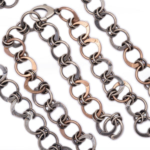 Rose Gold and Silver Chain - 20in