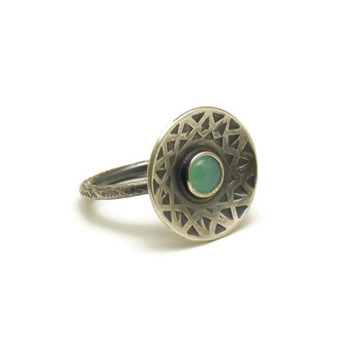 Chrysoprase luna ring - open edition piece