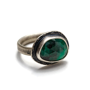 Emerald ring - one of a kind size 7.5