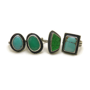 Chrysoprase ring - one of a kind