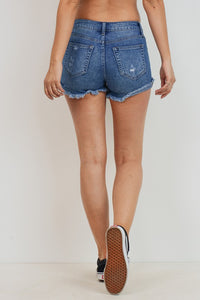 High Rise Shorts - Medium Denim