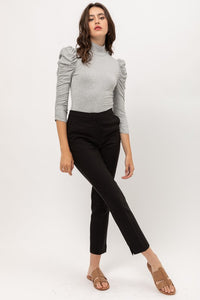 Ruched Sleeve Bodysuit