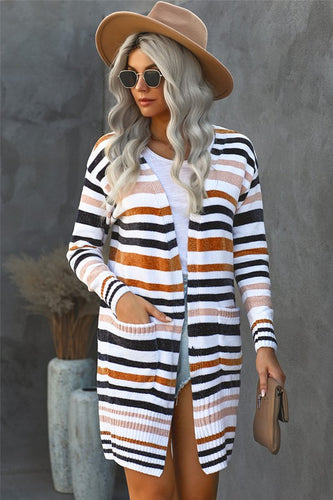 Striped Chenille Cardigan