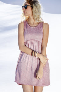 Racerback Sleeveless Dress - Mauve