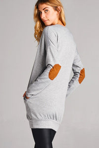 Grey Tunic with Elbow Patches