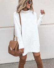 Long Sleeve Mock Neck Mini Dress - 2 Colors