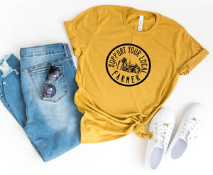 Support Your Local Farmer Tee - Mustard