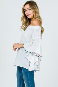 Thread Fringe Off the Shoulder