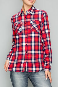 Plaid Button-up - Red/White