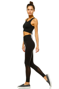 Mesh Detail High Waisted Leggings