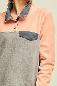 Colorblock Fleece Pullover